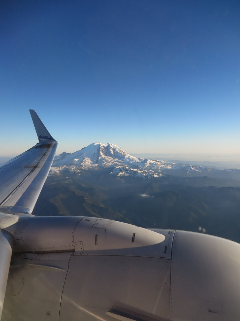 Our view approaching Seattle was amazing.