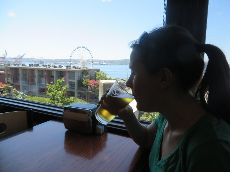 It was a terrible hardship to spend a sunny day in Seattle while we waited out the typhoon.