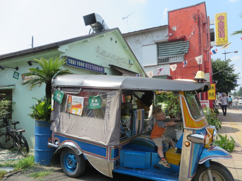 This Tuk Tuk truck in front of a Thai restaurant is like a magnet for small children. Or, at least, for my small child.