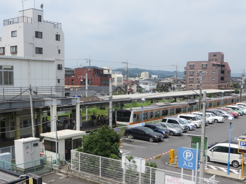 Fussa Station is walkable from our house.