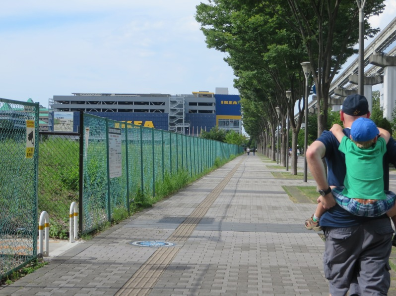 The long, hot, walk to IKEA.