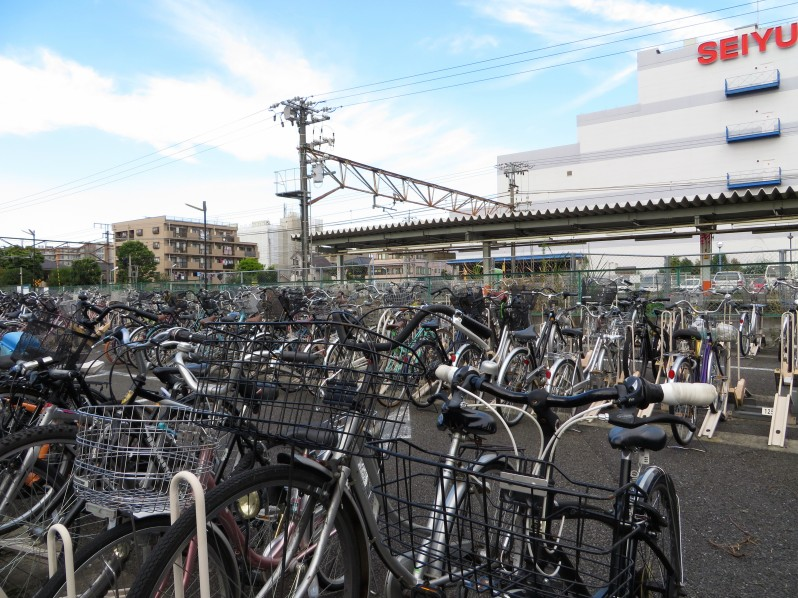 Bikes are everywhere in Tokyo. This parking lot is near our train station.