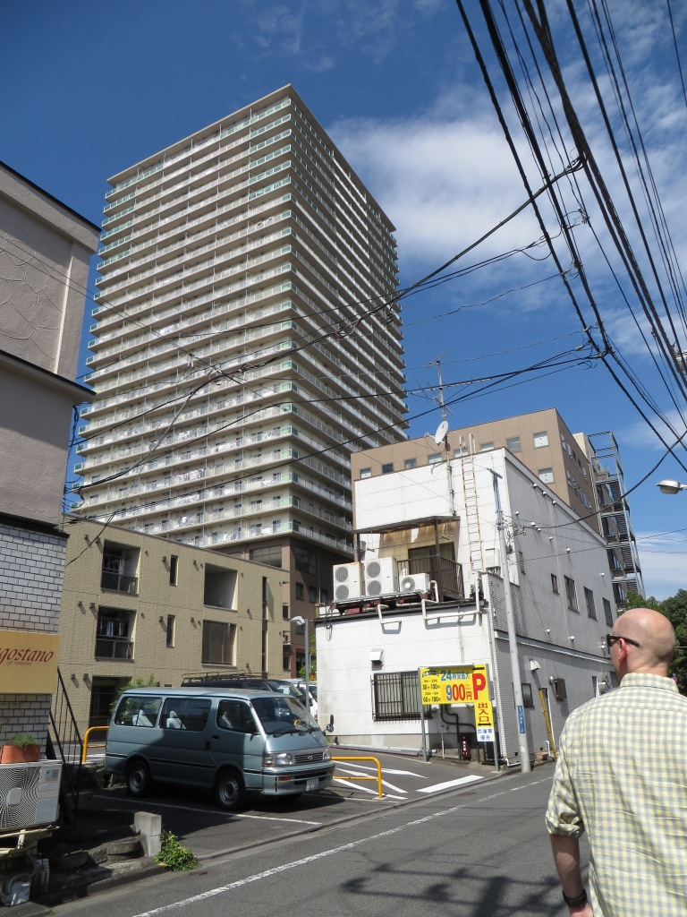 Massive apartment buildings, like this one in Hachioji, are everywhere in Tokyo.