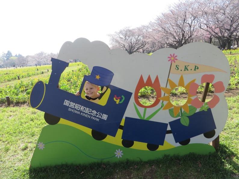 Showa Kinen Park in March.