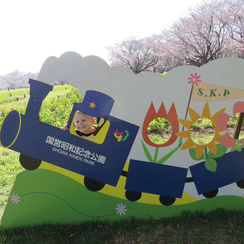 Showa Kinen Park in March.
